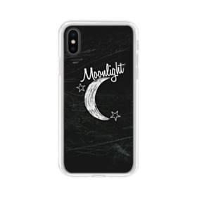 デザイン アルファベット010 moonlight iPhone XS Max TPU クリアケース