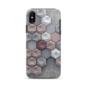 つぶつぶ六角形 iPhone XS Max ポリカーボネート タフケース