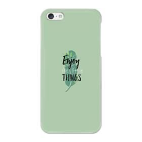 デザイン アルファベット011 enjoy the little things iPhone 5C ポリカーボネート ハードケース
