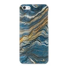 マーブル模様・白&藍 iPhone 5C ポリカーボネート ハードケース