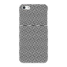 白黒系パターン:幾何図 iPhone 5C ポリカーボネート ハードケース