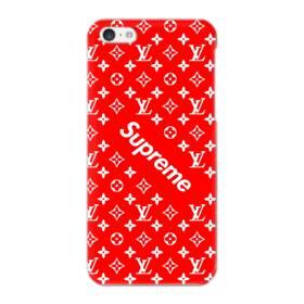 ルイ・ヴィトン&シュプリーム赤バージョン) iPhone 5C ポリカーボネート ハードケース