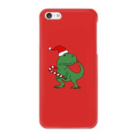 クリスマス 可愛い恐竜さん iPhone 5C ポリカーボネート ハードケース