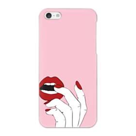 女の子の赤い唇と爪 iPhone 5C ポリカーボネート ハードケース