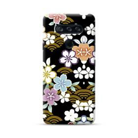 和風・桜&浪 LG V40 ThinQ ポリカーボネート ハードケース