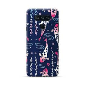 和柄:桜&錦鯉 LG V40 ThinQ ポリカーボネート ハードケース