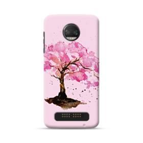 水彩画・桜の木 Moto Z2 Force ポリカーボネート ハードケース