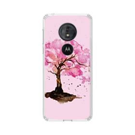 水彩画・桜の木 Moto G6 Play TPU クリアケース
