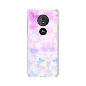 爛漫・抽象的な桜の花 Moto G6 Play TPU クリアケース