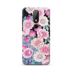 和の花柄 Nokia 3.1 Plus ポリカーボネート ハードケース