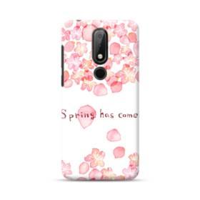 桜&デザイン英文 Nokia 3.1 Plus ポリカーボネート ハードケース