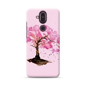 水彩画・桜の木 Nokia 8.1 ポリカーボネート ハードケース