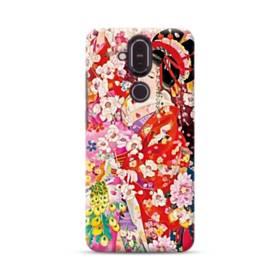 和・花魁&桜 Nokia 8.1 ポリカーボネート ハードケース