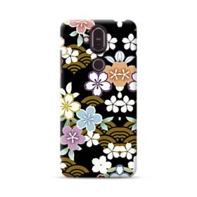 和風・桜&浪 Nokia 8.1 ポリカーボネート ハードケース