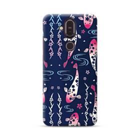 和柄:桜&錦鯉 Nokia 8.1 ポリカーボネート ハードケース
