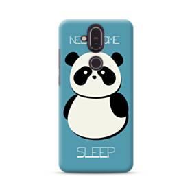 眠いパンダこ Nokia 8.1 ポリカーボネート ハードケース
