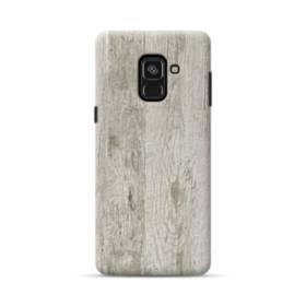シンプルな北欧風 ホワイト木目 Samsung Galaxy A8 (2018) ポリカーボネート ハードケース
