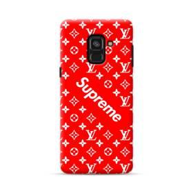 ルイ・ヴィトン&シュプリーム赤バージョン) Samsung Galaxy A8 (2018) ポリカーボネート ハードケース