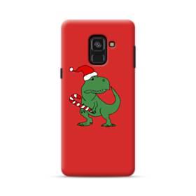 クリスマス 可愛い恐竜さん Samsung Galaxy A8 (2018) ポリカーボネート ハードケース