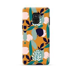 デザイン・アートなパターン:色&リーフ Samsung Galaxy A8 (2018) ポリカーボネート ハードケース