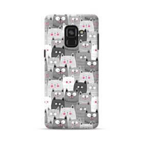 多くの子猫 Samsung Galaxy A8 (2018) ポリカーボネート ハードケース