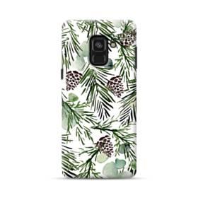 クリスマス デザイン ツリー・リーフ Samsung Galaxy A8 (2018) ポリカーボネート ハードケース