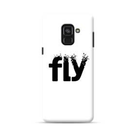 デザイン アルファベット:fly Samsung Galaxy A8 (2018) ポリカーボネート ハードケース