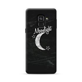 デザイン アルファベット010 moonlight Samsung Galaxy A8 (2018) ポリカーボネート ハードケース