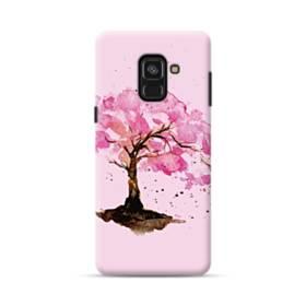 水彩画・桜の木 Samsung Galaxy A8 Plus (2018) ポリカーボネート ハードケース