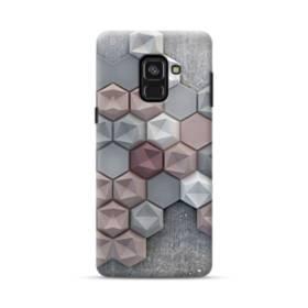 つぶつぶ六角形 Samsung Galaxy A8 Plus (2018) ポリカーボネート ハードケース