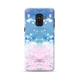 桜の花びら Samsung Galaxy A8 Plus (2018) ポリカーボネート ハードケース
