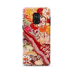 和・花柄 Samsung Galaxy A8 Plus (2018) ポリカーボネート ハードケース