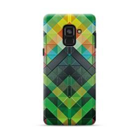 抽象的なモザイクパターン Samsung Galaxy A8 Plus (2018) ポリカーボネート ハードケース