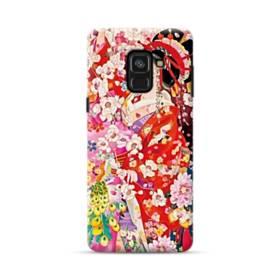 和・花魁&桜 Samsung Galaxy A8 Plus (2018) ポリカーボネート ハードケース