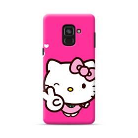 永遠に可愛い!キティちゃん Samsung Galaxy A8 Plus (2018) ポリカーボネート ハードケース