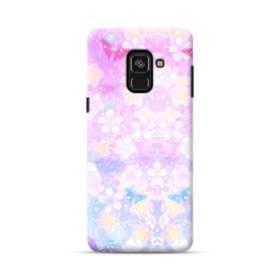 爛漫・抽象的な桜の花 Samsung Galaxy A8 Plus (2018) ポリカーボネート ハードケース