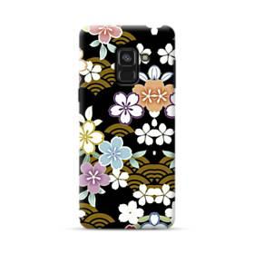 和風・桜&浪 Samsung Galaxy A8 Plus (2018) ポリカーボネート ハードケース
