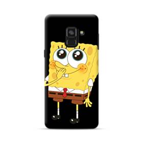 可愛いスポンジボブ Samsung Galaxy A8 Plus (2018) ポリカーボネート ハードケース
