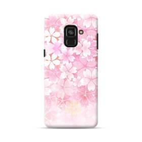 爛漫・ピンク&桜色 Samsung Galaxy A8 Plus (2018) ポリカーボネート ハードケース