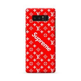 ルイ・ヴィトン&シュプリーム赤バージョン) Samsung Galaxy Note 8 ポリカーボネート ハードケース