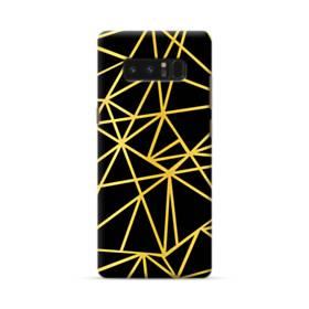 ゴールド・ラインとブラックの舞 Samsung Galaxy Note 8 ポリカーボネート ハードケース