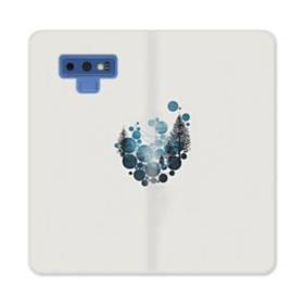 デザイン 空&ツリー Samsung Galaxy Note 9 合皮 手帳型ケース