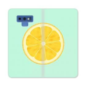 シンプル・ザ・レモン Samsung Galaxy Note 9 合皮 手帳型ケース