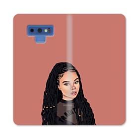 女の子シリーズ002、a girl Samsung Galaxy Note 9 合皮 手帳型ケース