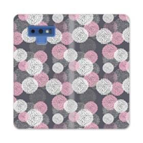 デザイン 花のモチーフ Samsung Galaxy Note 9 合皮 手帳型ケース