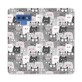 多くの子猫 Samsung Galaxy Note 9 合皮 手帳型ケース