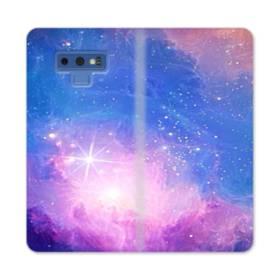 輝き夜空 キラキラ星空  Samsung Galaxy Note 9 合皮 手帳型ケース