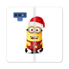 メリー クリスマス キュートなミニオンズ Samsung Galaxy Note 9 合皮 手帳型ケース