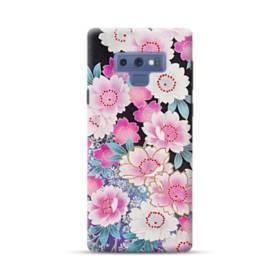 和の花柄 Samsung Galaxy Note 9 ポリカーボネート ハードケース