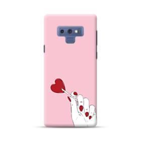 指とハート Samsung Galaxy Note 9 ポリカーボネート ハードケース